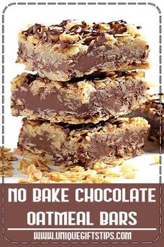 No bake chocolate oat bars Weight watchers recipes Oat oat recipes Baking Recipes, Cookie Recipes, Dessert Recipes, Oats Recipes, Flour Recipes, Recipies, Fudge, Chocolate Oatmeal, Chocolate Oat Bars Recipe