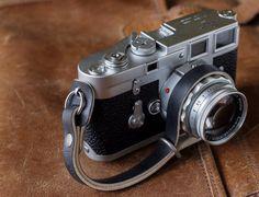 L E G A C Y leather camera wrist strap - Black & Natural, Crimson, Antique…