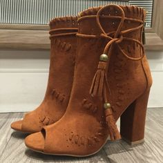 These new booties are  💣 - $59 #booties #heels #bohochic #obsessed #newarrival…