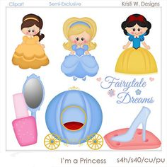 IM A PRINCESS IS A DIGITAL CLIPART SET.  THIS SET CONTAINS 9 DIGITAL IMAGES.  ALL DIGITAL IMAGES ARE PROVIDED IN PNG FORMAT.    THE DIGITAL IMAGES