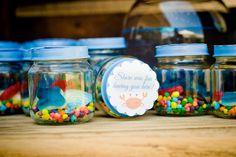 Mini Edible Aquariums at a Mermaid Party #mermaid #partyfavors