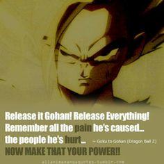 Gohan, Goku Quote