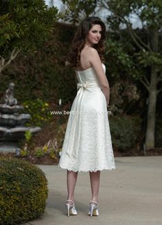 Style 8448 » Wedding Gowns » DaVinci Bridal » Available Colours : Ivory, White ~ Shown without matching Lace Bolero Jacket (back)
