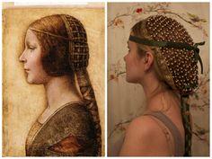 DIY Hair Snood inspired by Da Vinci's La Bella Principessa.