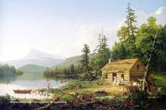 Home In The Woods by Thomas Cole - Oil Painting Reproduction - BrushWiz.com