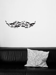moustache wall tattoo