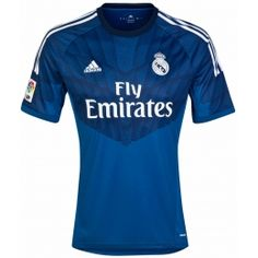 14-15 Real Madrid Goalkeeper Blue Soccer Jersey Shirt
