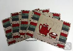 Crochet ideas that you'll love Quilted Placemat Patterns, Mug Rug Patterns, Quilt Patterns, Sewing Patterns, Christmas Mug Rugs, Christmas Placemats, Christmas Sewing, Quilting Projects, Quilting Designs