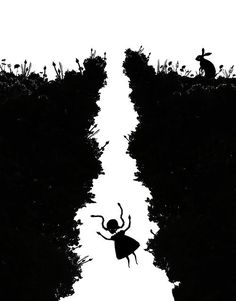 Alice In Wonderland. Falling Down The Rabbit Hole.