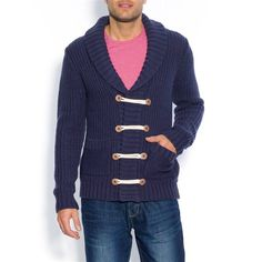 Shop La Redoute for women's, men's and kids' fashion, homeware, furniture and electricals. Find the perfect clothing and interiors style for all the family. Shawl Collar Cardigan, Get The Look, Double Breasted, Make It Simple, Kids Fashion, Men Sweater, My Style, Sweaters, How To Wear
