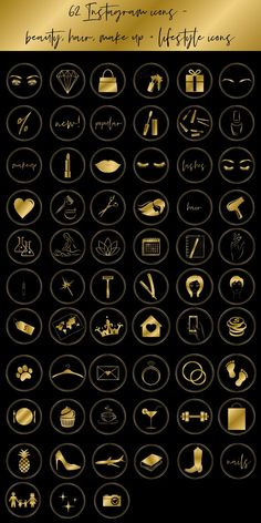 story highlight icons beauty makeup black and Beauty Make-up, Beauty Bar, Beauty Salon Logo, Symbole Instagram, Business Makeup, Makeup Black, Coffee Icon, Story Instagram, Instagram Nails