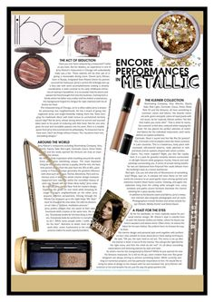 """""""Shine On: Metallic Make-Up #4"""" by elisabetta-negro ❤ liked on Polyvore featuring beauty, Lancôme, In Your Dreams, Stila, Guerlain, Anastasia Beverly Hills and metallicmakeup"""