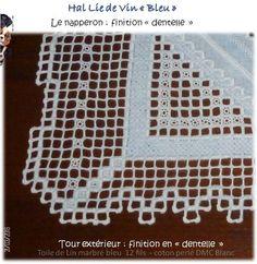 Photo LubyEmy38 Le motif central est de Christine hardanger et le tour est une créa perso http://mes101luby.eklablog.com/hal-lie-de-vin-bleu-fini-et-mis-en-situation-a125454592