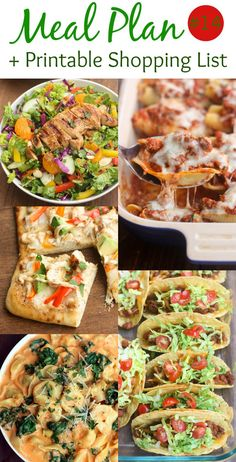 39 Best Free Weekly Meal Plans images in 2018 | Printable ...