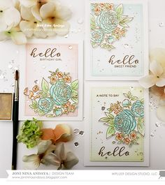"""""""Hello"""" Note Cards with Joni"""