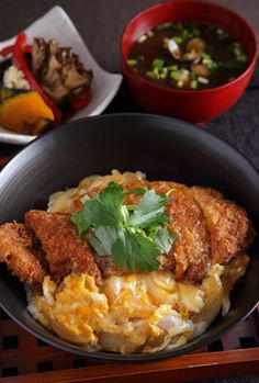 Katsudon, Pork Cutlet and Egg Rice Bowl, Popular Japanese Food か ...