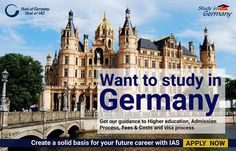 Aspire to study in Germany ? Explore German Education with IAS Programs  Hurry Apply Now Admissions Open for Bachelor / Master Studies - March/April 2017 Summer Semester intake.#studyingermany#studyabroad# Apply here www.iaos.de/study-in-germany/admission2017/