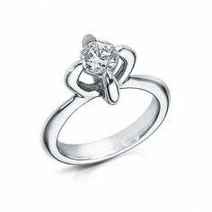 This four-claw engagement ring from Arctic Circle Diamonds  in Fairtrade white gold is set with a 0.50ct Canadian diamond. Discover the Canadian mine putting ethics on the map for ethical diamonds and jewellery: http://www.thejewelleryeditor.com/jewellery/diavik-diamond-mine-canada-putting-ethical-diamonds-on-the-map/ #jewelry
