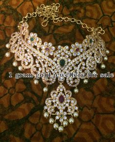 Indian Jewellery Designs: 92.5 Silver Choker In Pachi Work
