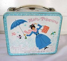 Vintage 1964 Mary Poppins Metal Lunch Box For your Supplies or Storage, Disney… Retro Lunch Boxes, Lunch Box Thermos, Tin Lunch Boxes, Metal Lunch Box, Boite A Lunch, Vintage Tins, Vintage Stuff, Vintage Metal, School Lunch Box