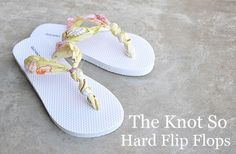 DIY flip flops! Just in time for the upcoming Old Navy $ 2 sale!