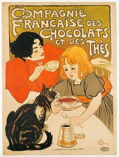 Théophile-Alexandre Steinlen (French (born Switzerland), 1859–1923). Compagnie Française des Chocolats et des Thès, 1895. The Metropolitan Museum of Art, New York. Gift of Bessie Potter Vonnoh, 1941 (41.12.19) #cats