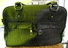 Vintage Leder Tasche Kroko Optik von W. Valentino -  Sommer Sale für 99,00 €