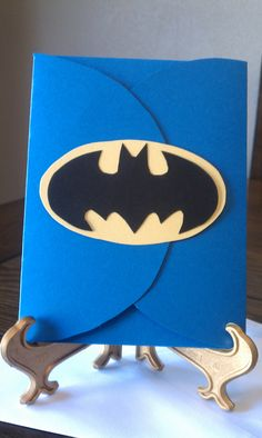 Handmade Batman Birthday Invitations -  These are so great!  The invitation gives guest a taste of what's to come....