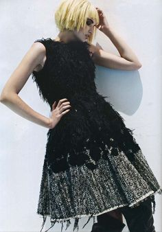 John Rocha AW11 dress in Plaza Magazine, October 2011 #fashion #editorial #press