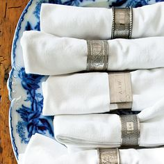 I should start collecting vintage napkin rings. Love this asst.  - Southern Living
