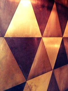 copper plated wall