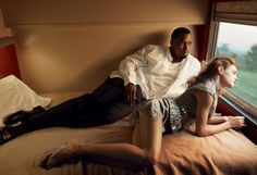"""Natalia Vodianova and Sean Combs """"Diddy"""" """"Brief Encounter"""" US Vogue February 2010 © Annie Leibovitz Natalia Vodianova, Sean Diddy Combs, Sean Combs, Cinematic Photography, Portrait Photography, Fashion Photography, Felicity Jones, Superstar, Annie Leibovitz Photography"""
