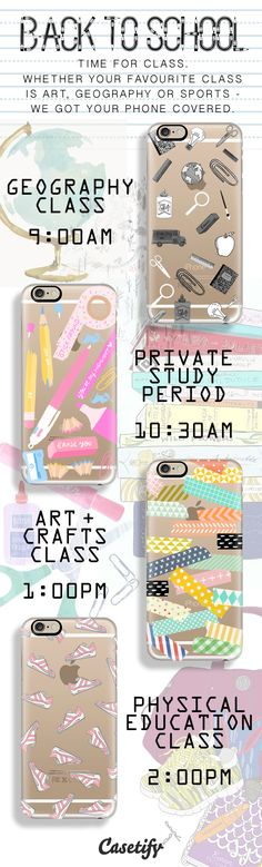 Here is what you need to get ready for school - shop them all here: http://www.casetify.com/artworks/mbW2X5U38W
