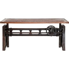 Found it at Wayfair.co.uk - Steamboat Dining Table Table Bar, Table Legs, Extendable Dining Table, Dining Bench, Table Design, Steampunk Design, Homestead Living, Rustic Table, Industrial
