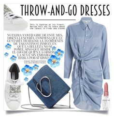 """""""Easy Outfitting: The Throw-and-Go Dress"""" by lucky-ruby ❤ liked on Polyvore featuring Veronica Beard, 3.1 Phillip Lim, Steve Madden, Whiteley, Rodin, Blue, whitesneakers and easydresses"""