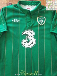 Relive Republic of Ireland s 2011 2012 international season with this  original Umbro home football shirt ea47ad5bc