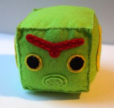 Caterpie cube plushie by TosTosia