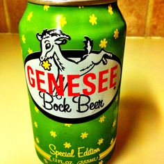 Genesee Bock, Special Edition, still brewed in Rochester NY, can taste that NY water. Great can, don't you agree?