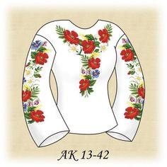 Заготовка к вышиванке женской Полевые цветы АК 13-42 Д