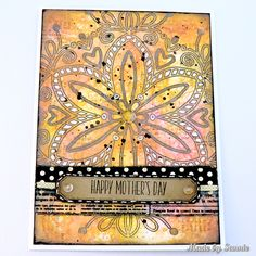 "Made by Sannie: Hip Hop Mother's Day card with video tutorial - #sssmchallenge - It's ""Hip Hop"" this week @simonsaysstamp Monday Challenge. Join in!"