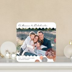 Reason to Celebrate - #Holiday Photo Cards in spanish red