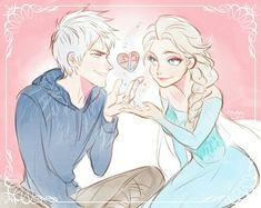 Image de elsa, jelsa, and jack frost Jack Frost E Elsa, Jack And Elsa, Jelsa, Pixar, Disney Love, Disney Art, Walt Disney, Arte Pop, Elsa Frozen