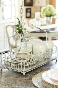 ❤️Scroll under this pin, a lot of great ideas.❤️ How to Add Farmhouse Charm to Your Kitchen - easy and inexpensive ways to update your kitchen, using beadboard, white paint and dishes, etc. - Confessions of a Serial Do-it-Yourselfer Modern Farmhouse Kitchens, Farmhouse Kitchen Decor, Farmhouse Chic, Kitchen Dining, Kitchen Taps, Country Kitchen, Kitchen Storage, Country Cooking, Kitchens