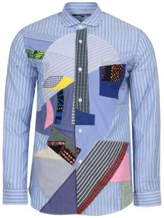 Junya Watanabe MAN for Comme des Garcons Classic Striped Patchwork Shirt