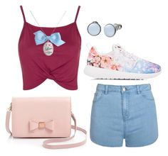 """Sporty and cute"" by martina-stevkovska ❤ liked on Polyvore featuring Topshop, Ally Fashion, NIKE, Ted Baker, Skagen and Tarina Tarantino"