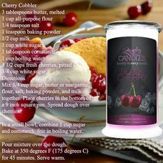 Cherry Cobbler #recipe #desserts