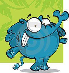cartoon elephant | Cartoon elephant Vector. (eps - 3357686) from Jonneale
