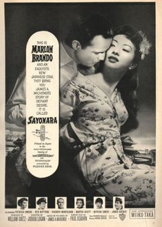 13 Fascinating Clippings From 1957 | Collectors' Blog Marlon Brando Sayonara 1957 #Brando #Sayonara #1957