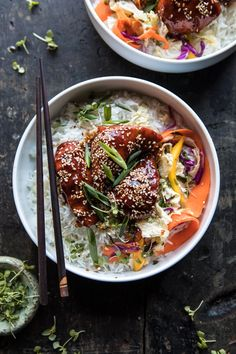 Instant Pot Sticky Korean Chicken: a delicious, super simple meal that's ready in under 30 minutes! From halfbakedharvest.com