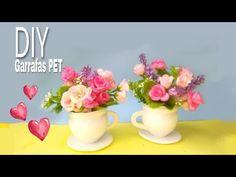 DIY XÍCARAS COM GARRAFAS PET/ Lembrancinha ☕ centro de mesa - DO LIXO AO LUXO - YouTube